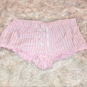 VS Pink Striped PJ Shorts